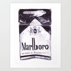 Marlboro Art Print by Alicia Evans - $15.00
