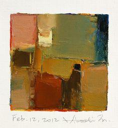 Feb. 12 2012 Original Abstract Oil Painting by hiroshimatsumoto