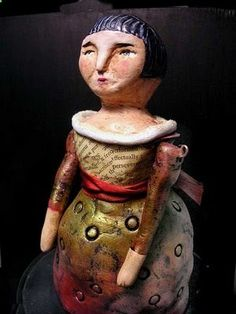 Judy Wise paper clay doll tutorial