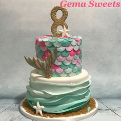 Mermaid / under the sea cake by Gema Sweets.