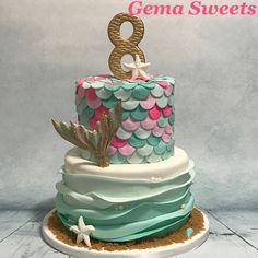 Mermaid / under the sea cake by Gema Sweets.