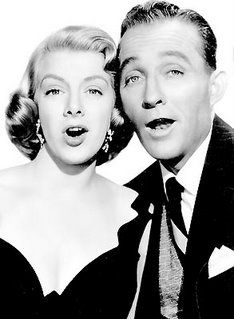 Bing Crosby and Rosemary Clooney from White Christmas- my favorite Christmas movie - I LOVE this movie!  I watch it all year and this dress that Rosemary Clooney is wearing was one of my favorites!  All the costumes in this movie were pretty amazing!