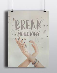 Posters decorativos break mononoty