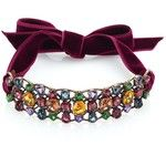Lanvin Women's Crystal & Velvet Choker - Bordeaux-