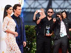 No one does a red carpet smize quite like Matthew McConaughey and Camila Alves.