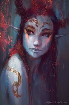 Fire goddess by aditya ikranegara Sort of what I'm going for with the muspellmegr…