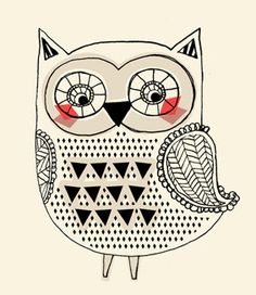 owl obsession on pinterest owl art colorful owl and owl print. Black Bedroom Furniture Sets. Home Design Ideas