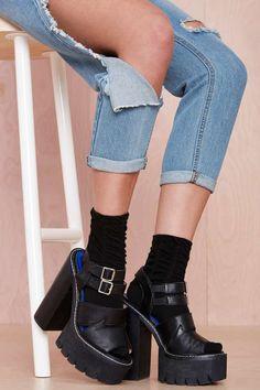 Scrunch Time Socks - Black