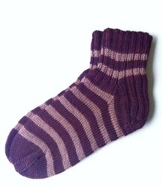 https://flic.kr/p/dLexTR | Striped Merino Wool Socks | When I look at these socks, I think about a chocolate layer cake :-)  www.etsy.com/listing/120376325/hand-knit-stripy-dark-brow...