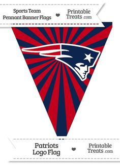 New England Patriots Pennant Banner Flag from PrintableTreats.com