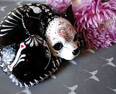 Day of the Dead Chihuahua by thehouseofsugar on Etsy, $100.00