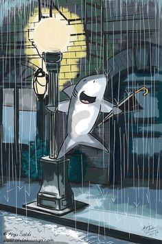 Sharkin' in the rain