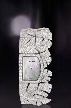 Diamond Luxurman watches bring you the best value for your money. Buy brand new and real Luxurman Diamond Watches for men and women with full warranty from us and save. Chanel Jewelry, Fashion Jewelry, Chanel Watch, Bling, High Jewelry, Jewelry 2014, Beautiful Watches, Diamond Are A Girls Best Friend, Fashion Watches