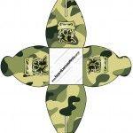 Caixa Kit Militar Camuflado