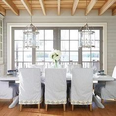Dining Table with Two Lanterns