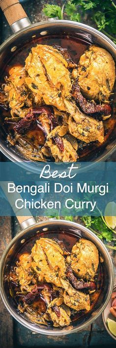 Step By Step Bengali Doi Murgi Recipe or Bengali Chicken Curry Recipe with Curd. Step By Step Bengali Doi Murgi Recipe or Bengali Chicken Curry Recipe with Curd. This is a delicious chicken curry where chicken is cooked i. Veg Recipes, Spicy Recipes, Easy Chicken Recipes, Indian Food Recipes, Asian Recipes, Cooking Recipes, Recipes Dinner, Indian Chicken Dishes, Indian Dishes