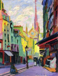 Auguste Herbin, The Place Maubert in Paris, 1903, Post-Impressionist