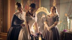 Victoria - queen Victoria with Baroness Lehzen and Skerrett