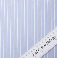 Blue & White Striped Superfine Pure Cotton Shirting Fabric, Buy Fabric Online, Blue And White, Cotton, Stuff To Buy, Shirts, Dress Shirts, Shirt