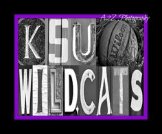 KSU Wildcats Basketball, Baseball Football letter art by a2zphotography by A2Z Photography #KSU #wildcats #KState #EMAW #Gocats see more at www.facebook.com/a2zphoto
