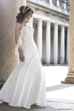 alberta ferretti bridal 2014 alhambra wedding dress strapless crumb catcher neckline