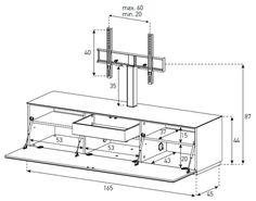 medidas mueble de tv - Buscar con Google