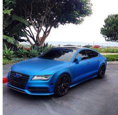 Beautiful Wraped Blue Audi