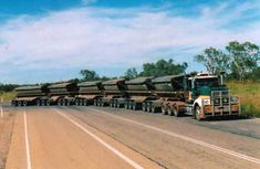 "A ""road train"" in Australia"