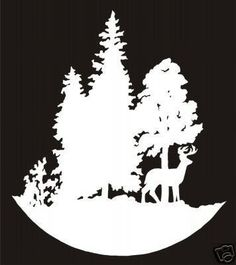 Deer in Trees Die Cut Decal, Hunting Decals, Fishing Decals, Hunting Sticker, Fishing Sticke#.U9CDzWfQe70#.U9CDzWfQe70
