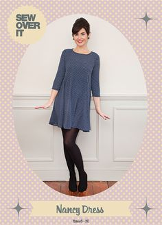 Mee your new favourite swing dress pattern, the Nancy Dress! Inspired by Lisa's love of vintage style, Nancy is a 1960s icon with the ultimate swish factor. Cute and flattering, and with 60s style AN