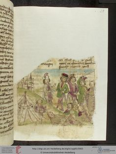 Cod. Pal. germ. 60: Historienbibel ; Irmhart Öser ; 'Brandans Reise' u.a. (Südwestdeutschland, um 1460), Fol 29r