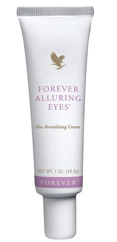 Forever Living - Forever Alluring Eyes. Reduces the appearance of wrinkles, fine lines and under-eye dark circles, while improving the skin's suppleness and elasticity. A nourishing agent to condition and lock in moisture whils helping to reduce puffiness in tired eyes. http://www.beforeverfree.myforever.biz/store
