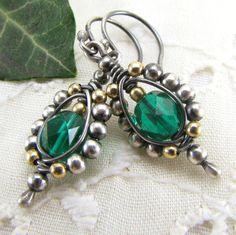 Sterling Silver Earrings Wire Wrapped Jewelry by GravelRoadJewelry, $48.00