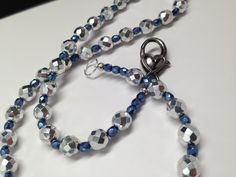 Silver and Blue Necklace with a Heart shaped by JewelryByTerriB #jewelryonetsy #necklace FREE GROUND SHIPPING IN US