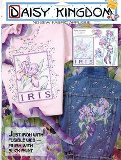 "Daisy Kingdom No-Sew Fabric Applique # 6251 ""Iris"" Full Color | eBay"