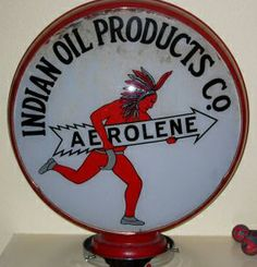 Indian oil products gas pump globe