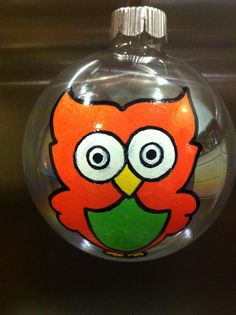 Hey, I found this really awesome Etsy listing at https://www.etsy.com/listing/168654966/hand-painted-owl-christmas-ornament