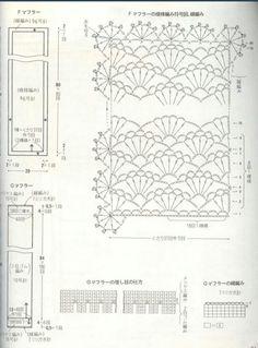 Picasa Web Albums. Crochet woman's scarf stitch pattern diagram