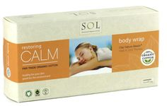 SOL Lavender Organic Cotton Body Wrap with Clay Nature Beads Heat and Cool Thereapy