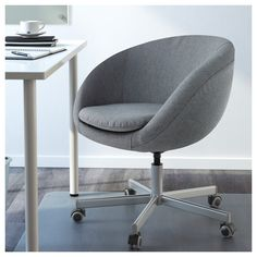 IKEA SKRUVSTA swivel chair You sit comfortably since the chair is adjustable in height.