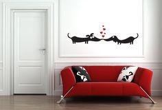 Dogs in Love Vinyl Wall Art