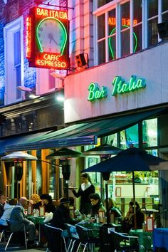Bar Italia, Soho - Best Coffee in London - Best London Coffee Shops (EasyLiving.co.uk) You can't go wrong with this one- on the floor above the first ever television transmission of a moving image was made by John Logie Baird on 30.10.1925! Oh, and I hear the coffee is good.