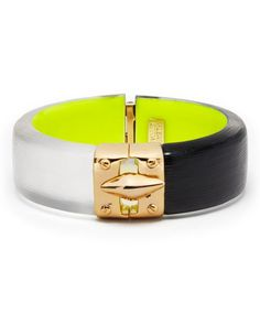 Alexis Bittar Lucite Liquid Metal Two Tone Bangle - Bloomingdale's Exclusive