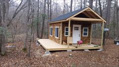 This is Brad's tutorial on how to build your own tiny cabin. From the outside, you'll notice cedar shakes, asphalt shingles and a large porch area. When you go inside, you'll find…
