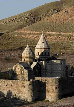 Armenian Monastery of St. Thaddeus, Iran. Rebuilt in 1324 after an earthquake, it is reputed to be the burial site of the Apostle Jude Thaddeus.