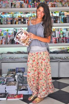 floral maxi skirts styling looks- Just Trendy Girls (@JustTrendyGirl) | Twitter
