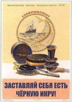 Caviar - Old illustration Antique print by Soviet Poster Poster Ads, Advertising Poster, Poster Prints, Art Print, Vintage Advertisements, Vintage Ads, Vintage Posters, Retro Posters, Vintage Ephemera