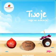 You don't know how to make a logo on fruits?  We know how! Check our stuff!  Apple with company logo? Coconut with engraving Your brand?  Yes in our workplace everything is possible!  www.bukietyowocowe.pl
