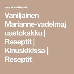 Vaniljainen Marianne-vadelmajuustokakku | Reseptit | Kinuskikissa | Reseptit
