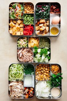 "What's more satisfying than looking into the fridge and having a solid understanding of what you're going to eat for the week? Prepping meals ahead of time answers the ""What's for dinner?"" question we face every day. These five salads, which have been designed with storage in mind, can be made on a Sunday night for eating throughout the week. While they all make excellent dinner options, lunch is where they prove their worth, making the ho-hum midday meal instantly more ..."